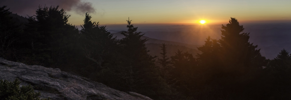 Sunset over the Majestic Blue Ridge Mountains