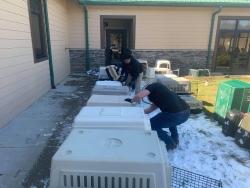 SVA members volunteering at the Watauga Humane Society