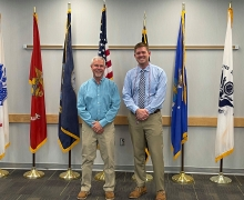 Jacob Keller (right) is graduating with two masters degrees and two graduate certificates!