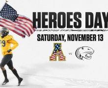 Appalachian State's Annual Heroes Day Football Game will be held on November 13, 2021