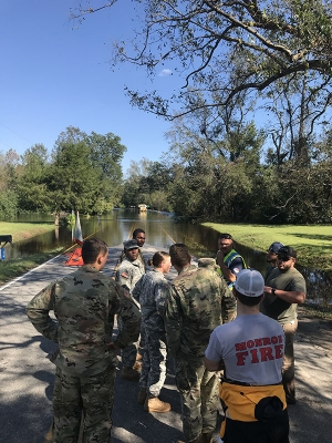 Fifteen of App's student veterans were called in preparation of Hurricane Florence, when Gov. Roy Cooper declared a state of emergency.