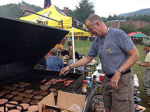 Military cookout at Duck Pond Field