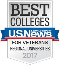 U.S. News Best Colleges for Veterans Regional Universities 2017