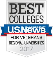 U.S. News Best Colleges for Veterans Regional Universities 2017
