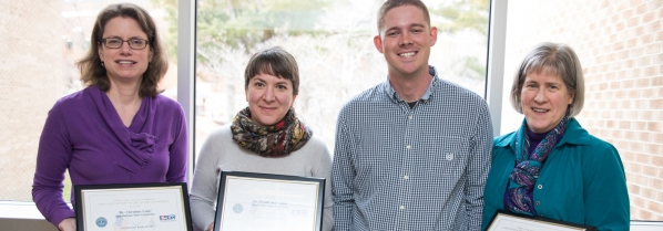 Appalachian National Guard Specialist thanks faculty for their support with ESGR Patriot Award