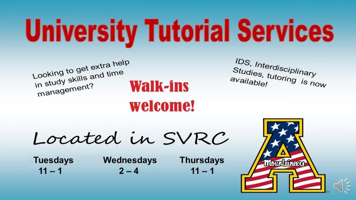 university tutoring in svrc